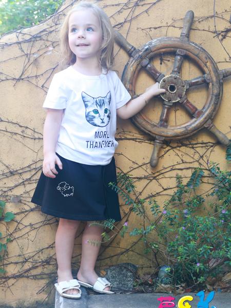 芭乐兔17春夏新款女童个性T恤