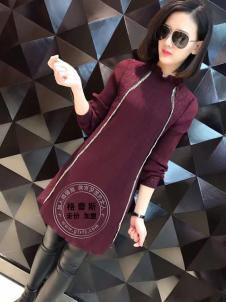 格蕾斯2017年春季新款紫红色长衫