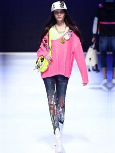 蒂斯弗女装粉色针织上衣