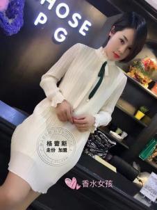 格蕾斯2017年春季新款白色包臀裙