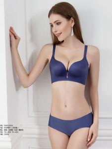 缔妒2017春夏新品蓝紫色无痕无钢圈内衣