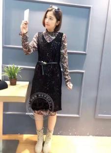 格蕾斯2017年春季新款无袖连衣裙