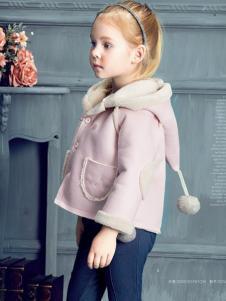 豆豆衣橱童装豆豆衣橱童装粉色巫师帽棉服