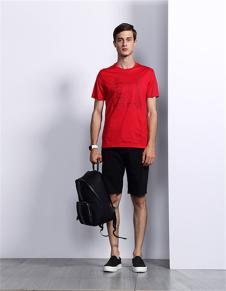 迪柯妮2017年春夏装新款红色T恤