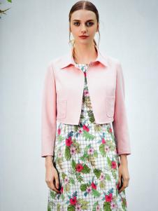 金蝶茜妮粉色短款外套