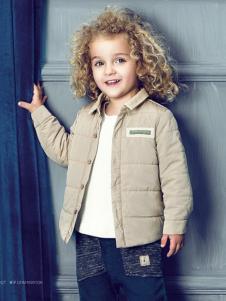 豆豆衣橱童装豆豆衣橱童装男童灰色耐脏棉衣