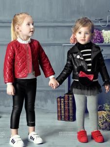 豆豆衣橱童装豆豆衣橱童装女童黑色皮衣