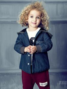 豆豆衣橱童装豆豆衣橱童装男童连帽牛仔布料外套