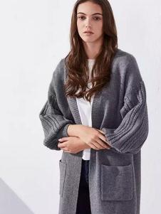 范可儿女装灰色针织外衫