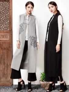 水墨生香春季长款中式外套