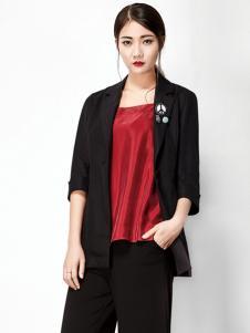 水墨生香春季黑色短款外套