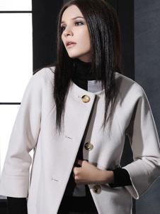 菲亚非女装单排扣大衣