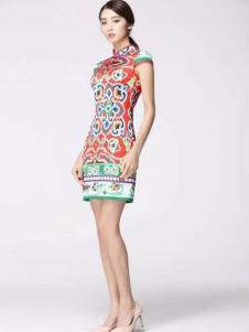 凤翔歌女装中国图腾立领旗袍