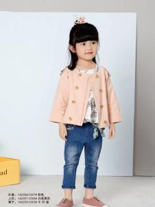 兔子杰罗粉色小童装外套