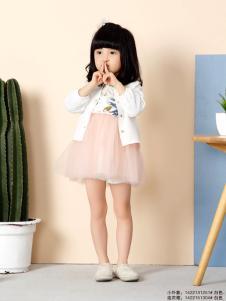 兔子杰罗女童拼接蓬蓬连衣裙