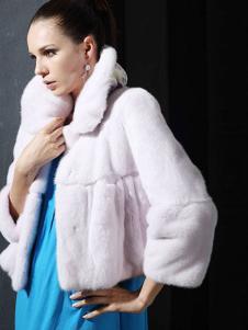 菲亚非女装毛绒短外套