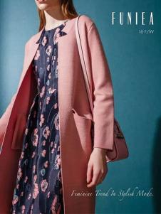 佛尼亚女装粉色简约双面尼
