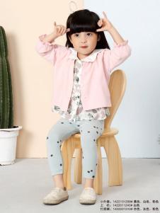 兔子杰罗女童粉色休闲外套