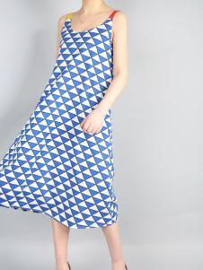 零时尚17春季新款吊带连衣裙