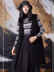 FUKOU弗蔻女装黑色马夹外套