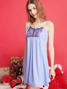 古格紫色吊带睡裙