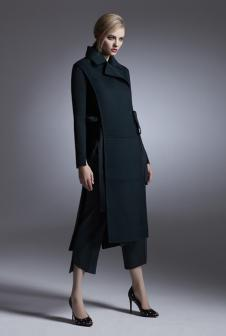 LABEI&LALD女装新品长款修身大衣