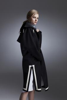 LABEI&LALD新品开衩黑色外套