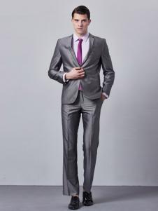 GD&ZS格度佐致男装银灰色西服套装