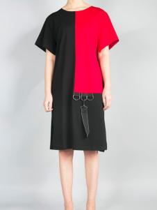 零时尚17春季新款个性连衣裙