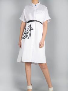 零时尚17春季新款衬衫连衣裙