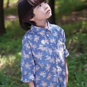 谷子屋童装棉麻风来袭 棉麻衬衫演绎时尚