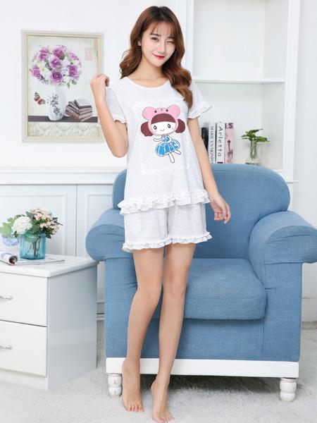 珍妮芬夏季新款时尚甜美家居服