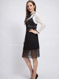 依路佑妮17春新款裙子两件套