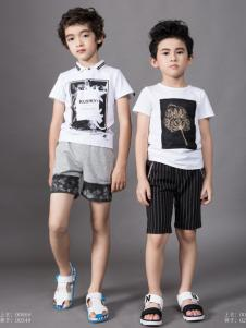 土巴兔男童夏季印花T恤