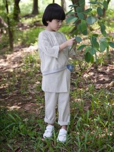 谷子屋童装棉麻T恤