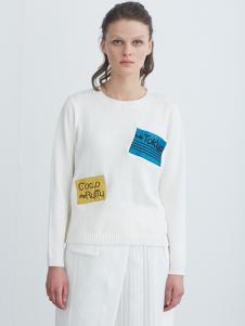 COCO RYLLY女装白色针织衫