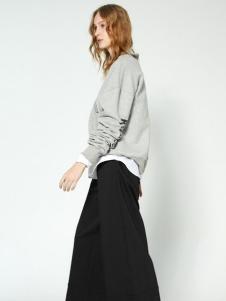 布莎卡时尚简约高级灰上衣