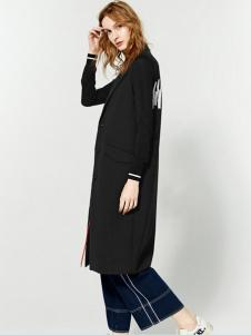 布莎卡服饰黑色长款外套