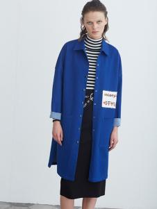 COCO RYLLY女装宝蓝色外套