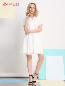 2017年容悦春夏新品白色连衣裙