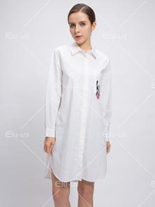 依路佑妮17春季新款衬衫裙