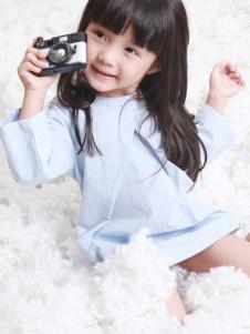 谷子屋童装女童纯色连衣裙