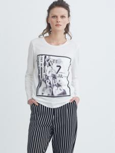 COCO RYLLY女装白色T恤