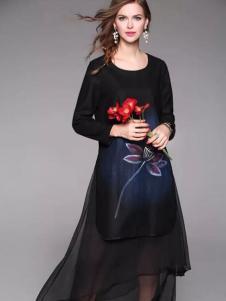 HYCLASS海嘉仕女装两层雪纺裙