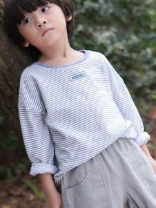 谷子屋童装条纹T恤