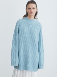 COCO RYLLY女装蓝色宽松针织衫