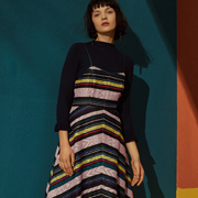 百图女装 彩色条纹不仅仅是时髦