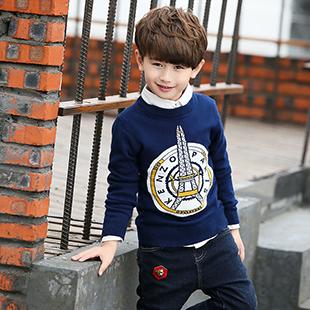 男童白色毛衣外套加工厂