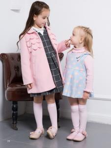 虹猫蓝兔童装粉色翻领大衣
