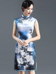 恒舞女装中国风印花旗袍